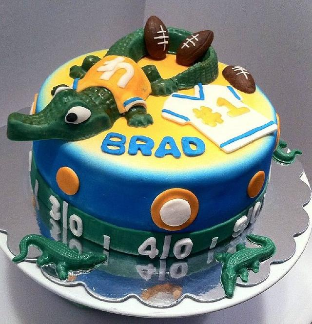 Marvelous Gators College Football Birthday Cake Cake By Teresa Cakesdecor Personalised Birthday Cards Veneteletsinfo