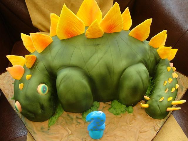 Dinosaurs birthday cakes