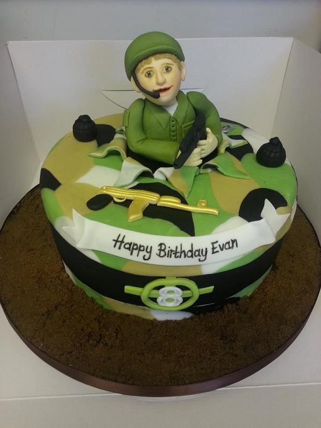 Amazing Military Themed Cake Cake By Funkycakes Cakesdecor Personalised Birthday Cards Paralily Jamesorg