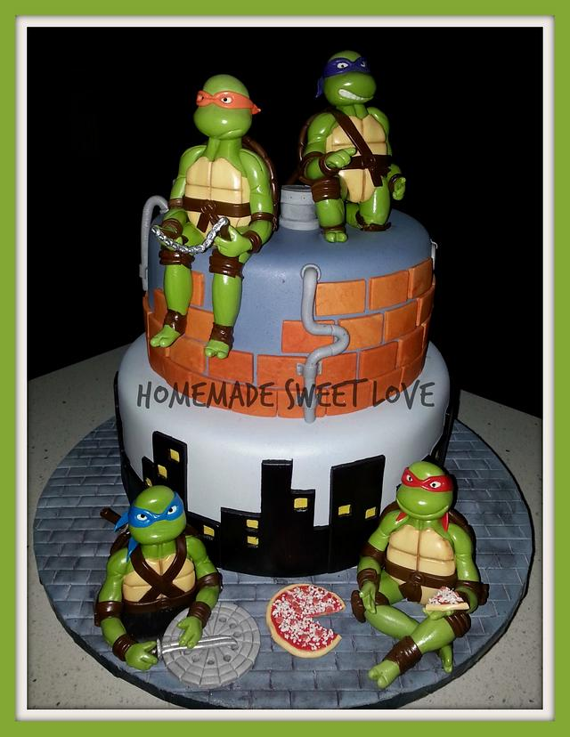 Remarkable Teenage Mutant Ninja Turtles Birthday Cake Cake By Cakesdecor Funny Birthday Cards Online Elaedamsfinfo