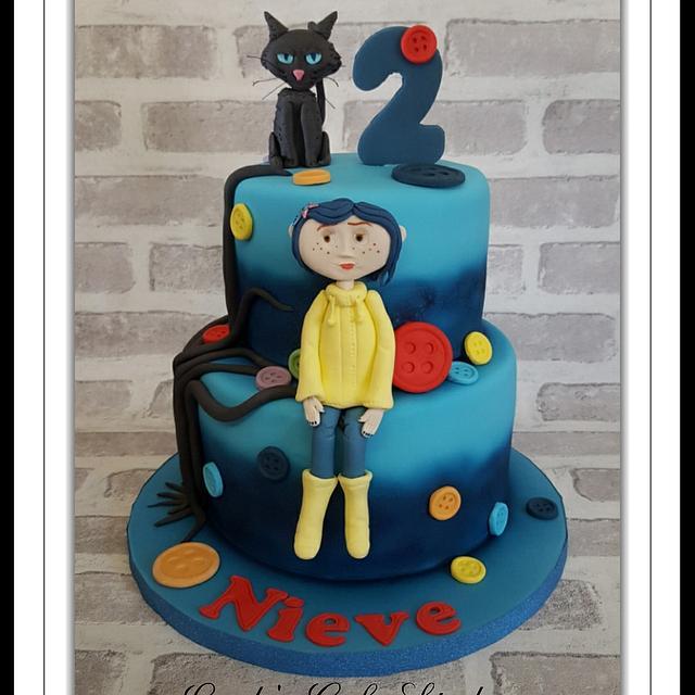 Coraline Cake Cake By Linda S Cake Studio Cakesdecor