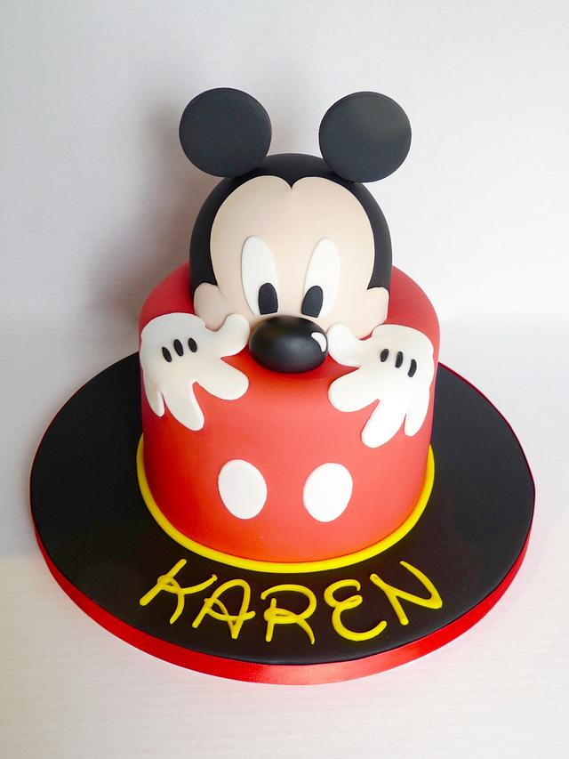Marvelous Mickey Mouse Cake Cake By Angel Cake Design Cakesdecor Personalised Birthday Cards Paralily Jamesorg