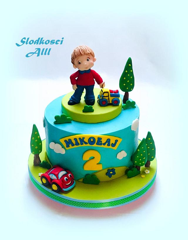 Awesome Little Boy Birthday Cake Cake By Alll Cakesdecor Funny Birthday Cards Online Elaedamsfinfo