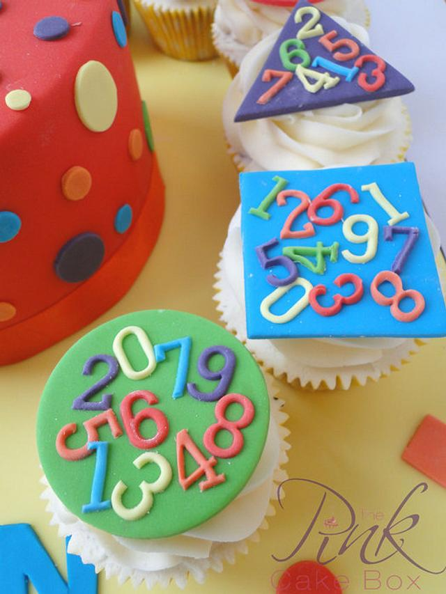 Shapes and Numbers Birthday Cake