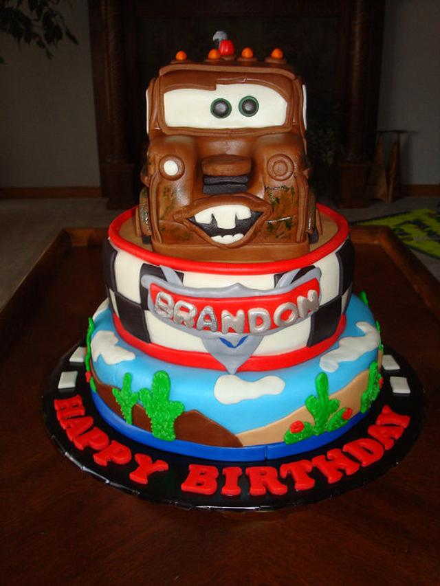 Mater Tow Truck Cake