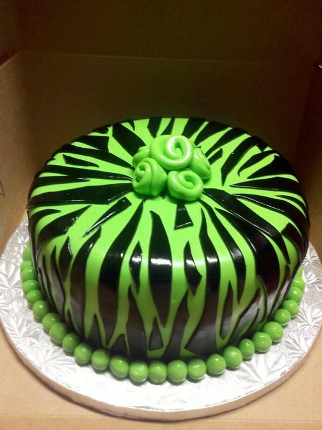 Neon Zibra cake