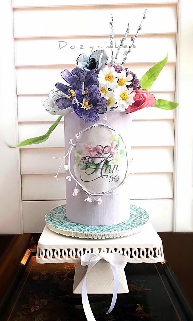 Wafer Paper Garden Cake