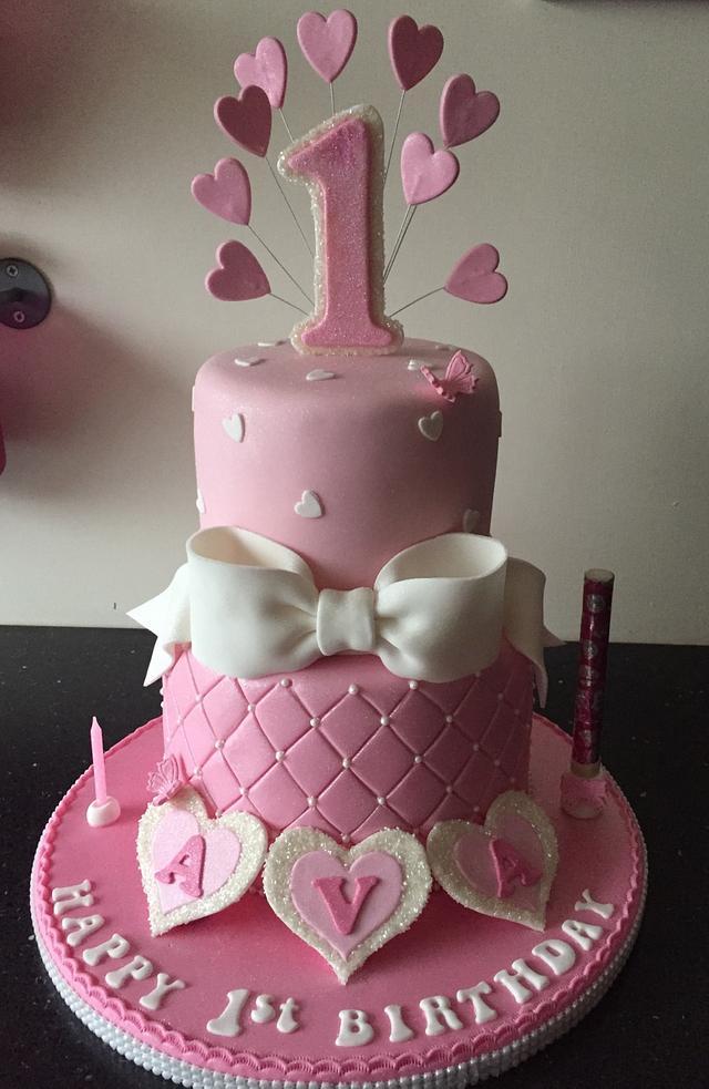 Pink 1st birthday