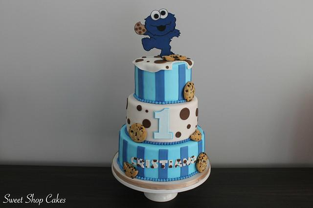 Tremendous Cookie Monster Birthday Cake Cake By Sweet Shop Cakes Cakesdecor Funny Birthday Cards Online Elaedamsfinfo