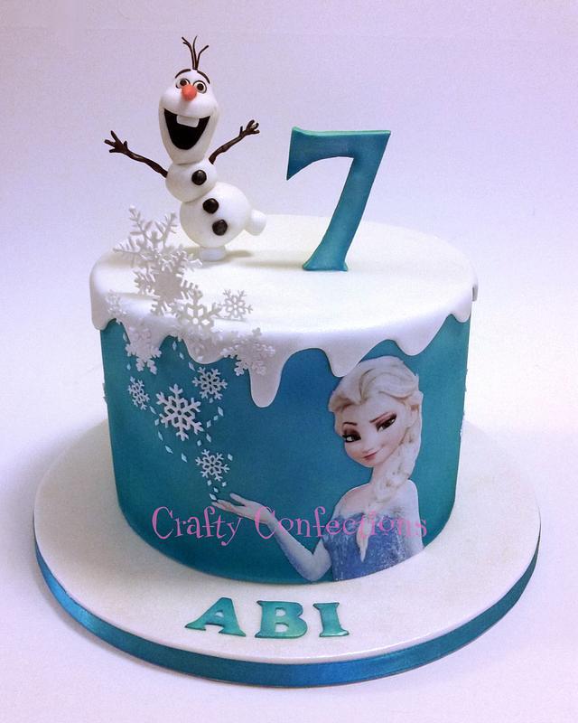 Strange Frozen Themed Birthday Cake Cake By Kelly Cope Cakesdecor Personalised Birthday Cards Rectzonderlifede