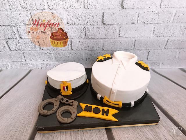 Egyption police man cake