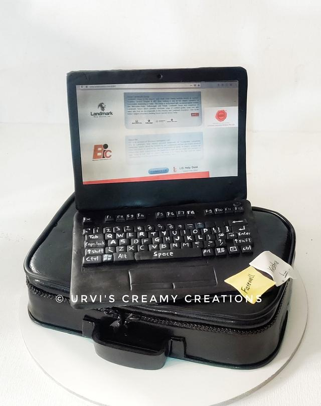 Laptop and bag