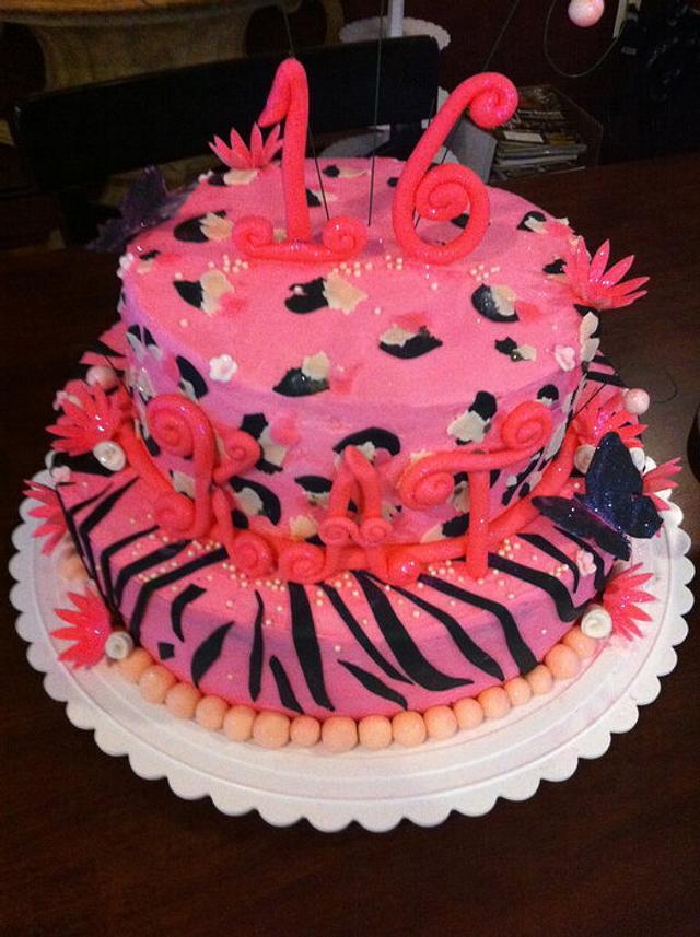 Sweet 16 Pink Leopard/Zebra