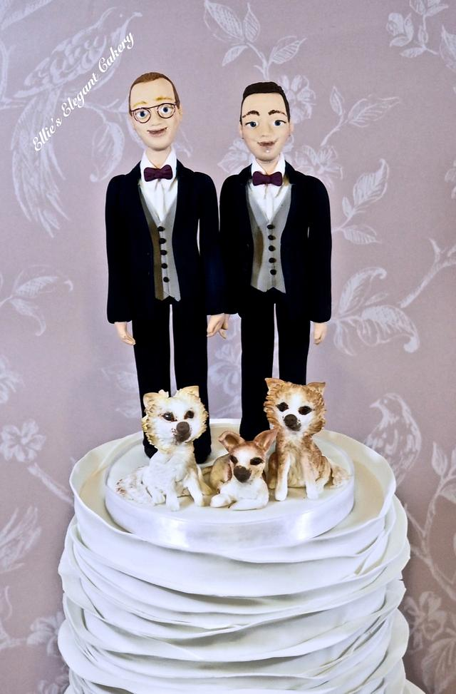 Ruffle Wedding Cake :)