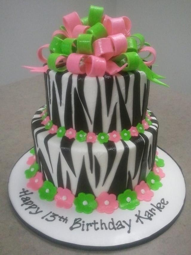 Hot pink & Lime Zebra