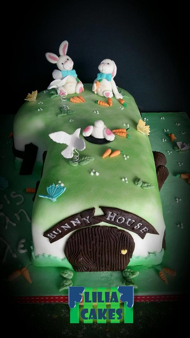 Number 1 Bunny House cake!