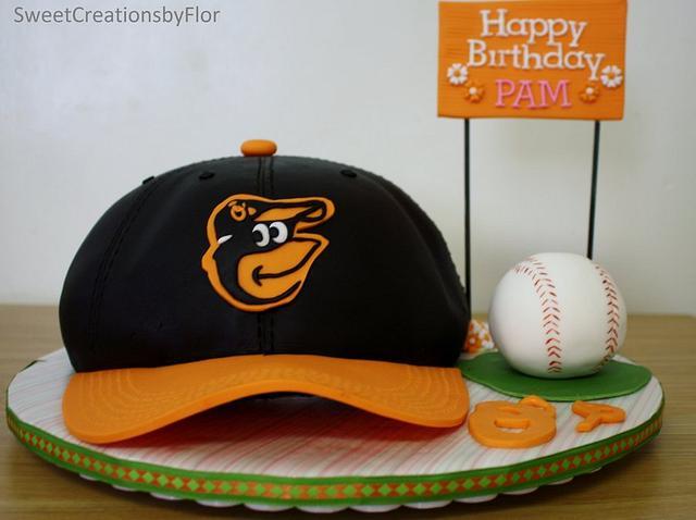 Orioles Baseball cap cake