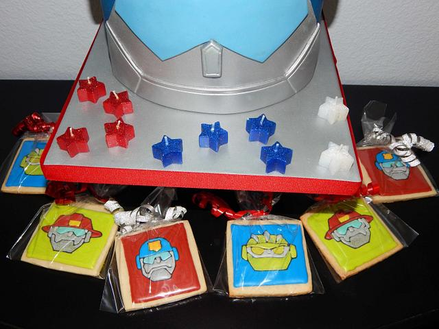 Astonishing Rescue Bots Cookies Cake By Olga Cakesdecor Funny Birthday Cards Online Alyptdamsfinfo