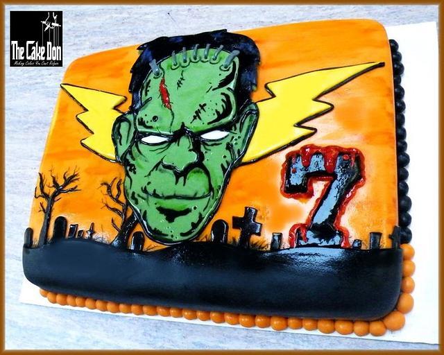 THE HALLOWEEN / 7th BIRTHDAY FRANKENSTIEN CAKE