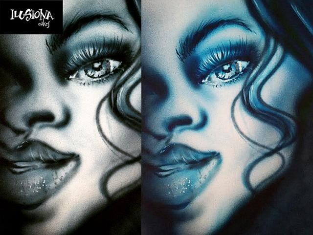 Airbrush Blue face