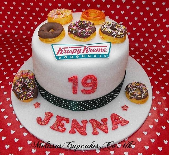 Excellent Krispy Kreme Doughnuts Cake Cake By Melissas Cupcakes Cakesdecor Funny Birthday Cards Online Alyptdamsfinfo