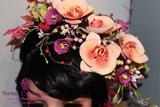 Belle Floral Headdress
