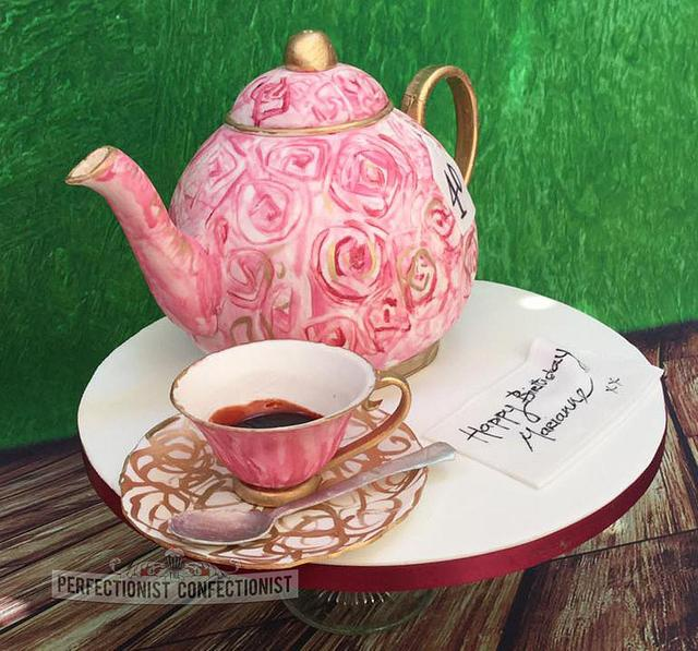 Wondrous Marianne Teapot Birthday Cake Cake By Niamh Geraghty Cakesdecor Personalised Birthday Cards Cominlily Jamesorg