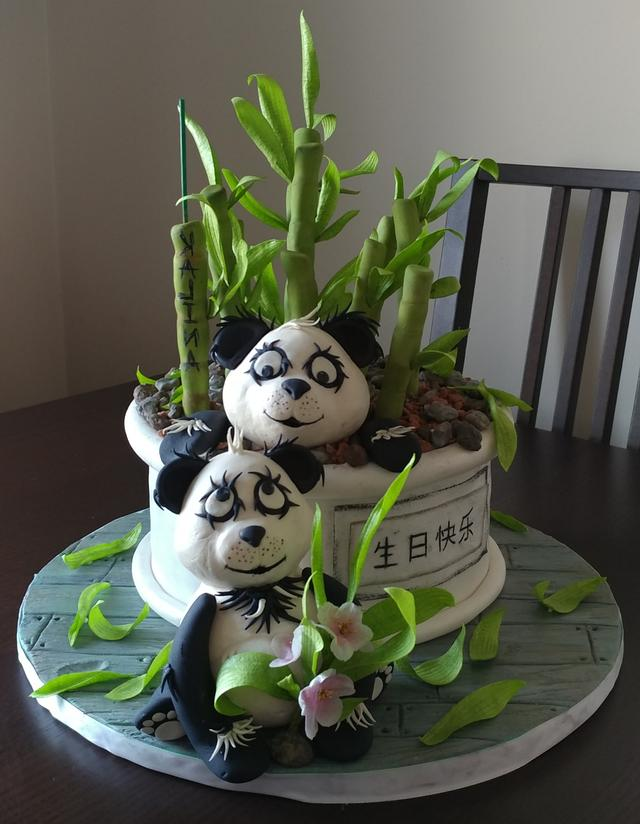 B'Day cake for a panda bear lover 😁