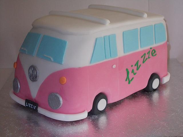 VW Campervan Cake Birthday Cake
