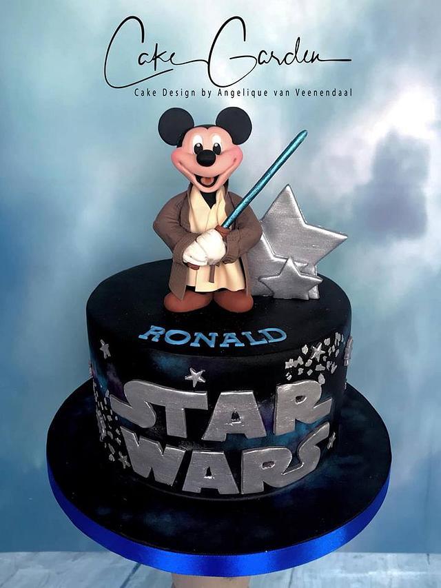 "Jedi Mickey Cake...""the mouse awakens..."""