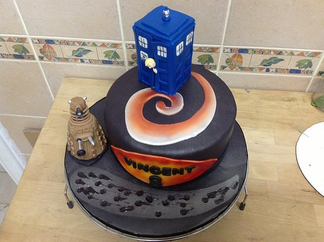 Marvelous 8Th Birthday Dr Who Cake Cake By Mariastubbs Cakesdecor Funny Birthday Cards Online Inifofree Goldxyz