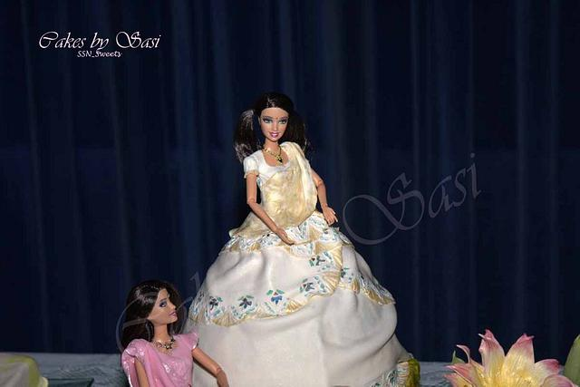 Barbie dolls Dressed in Indian  and western Outfits