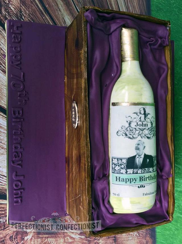 John - Wine Box Birthday Cake