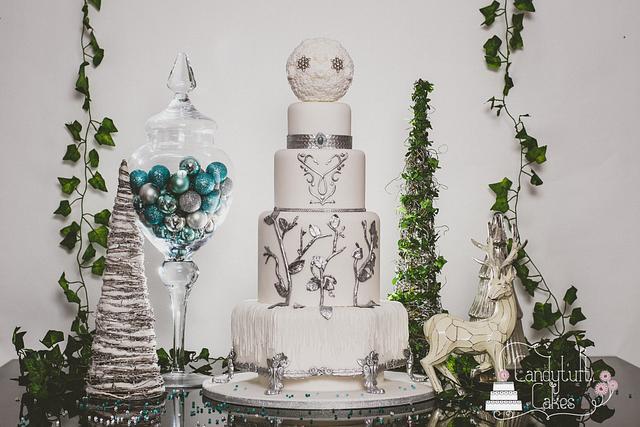 Frozen/Snow Queen wedding cake