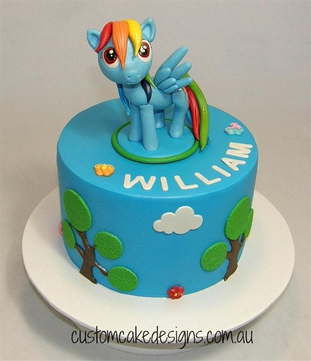 Fabulous Rainbow Dash My Little Pony Cake Cake By Custom Cake Cakesdecor Funny Birthday Cards Online Eattedamsfinfo