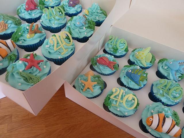 Tropical Fish Cupcakes