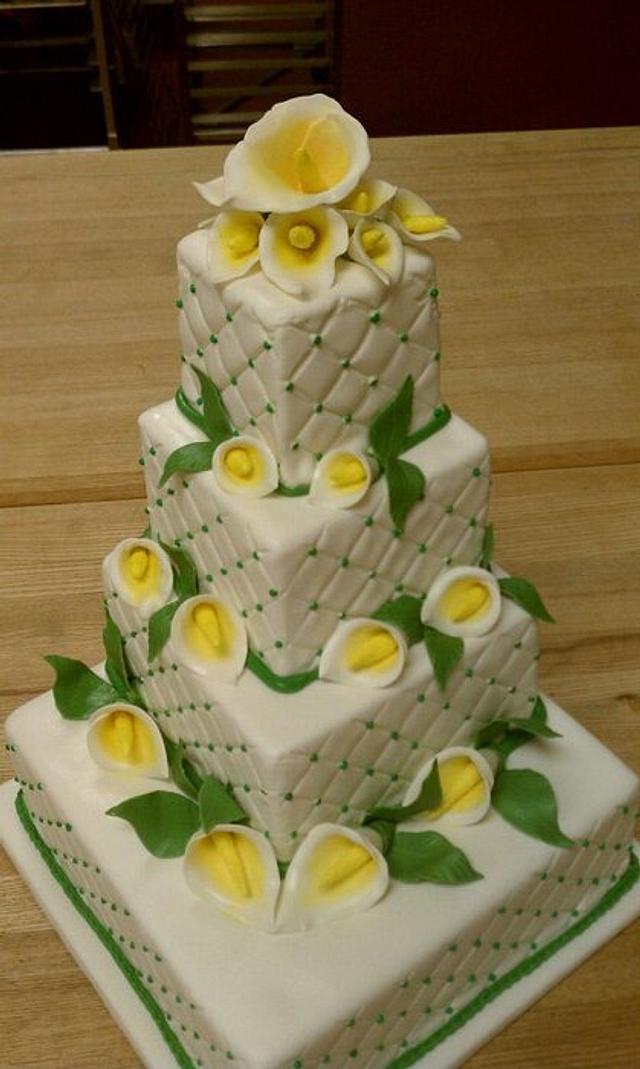 4-Tier Wedding Cake - Cala Lilies