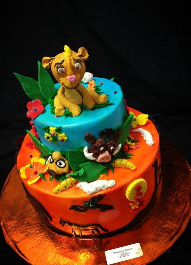 Lion King Themed Birthday Cake