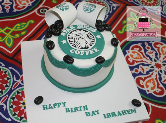 Star bucks cake