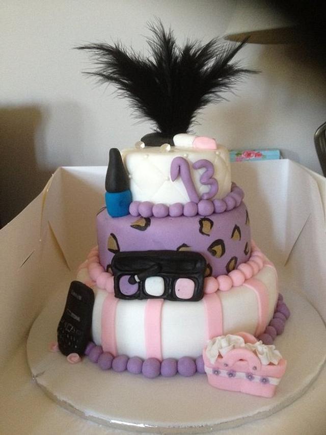 My 1st 3 tier cake!