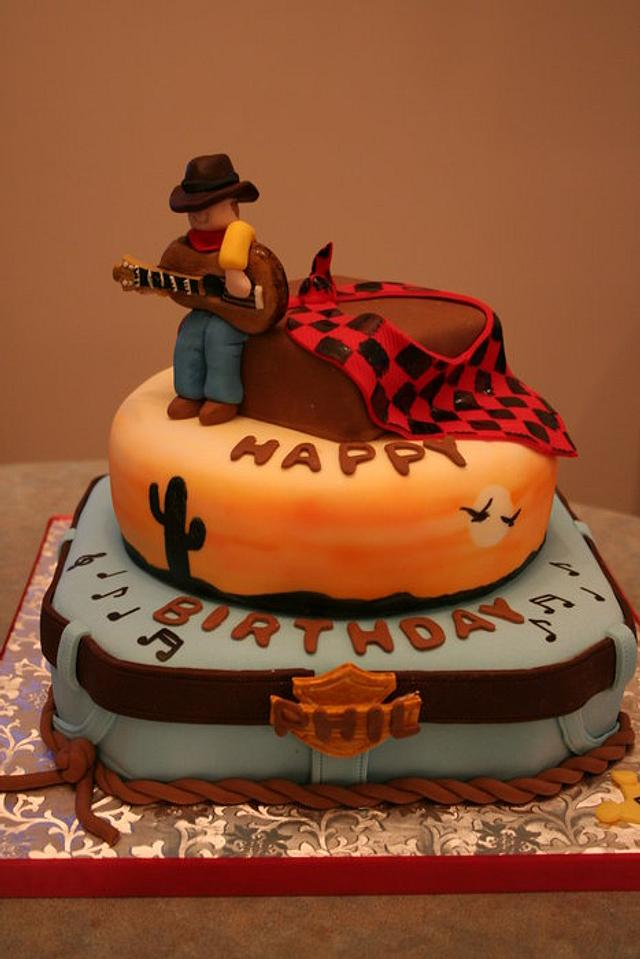Fantastic Country Western Birthday Cake Cake By Beesnees Cakesdecor Funny Birthday Cards Online Aboleapandamsfinfo