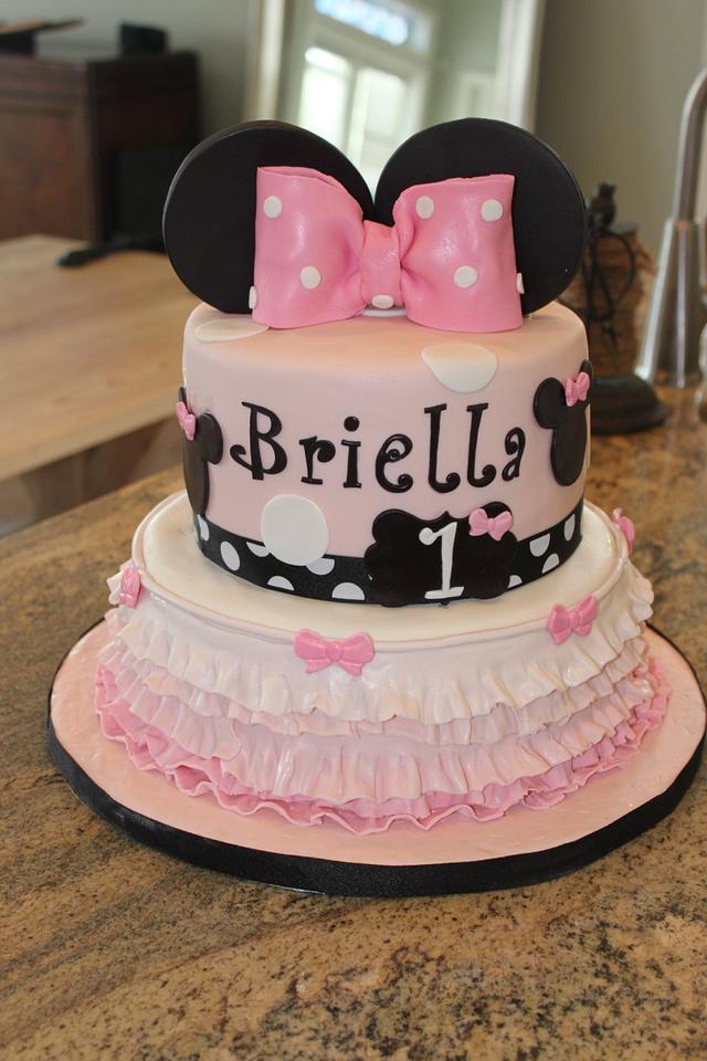 Pleasing Minnie Mouse First Birthday Cake By Teresa Markarian Cakesdecor Funny Birthday Cards Online Alyptdamsfinfo