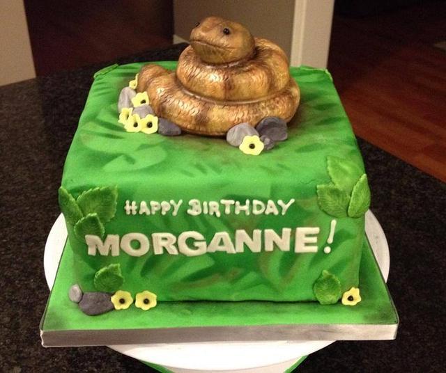 Fantastic Snake Birthday Cake By Jennifer Jeffrey Cakesdecor Funny Birthday Cards Online Overcheapnameinfo