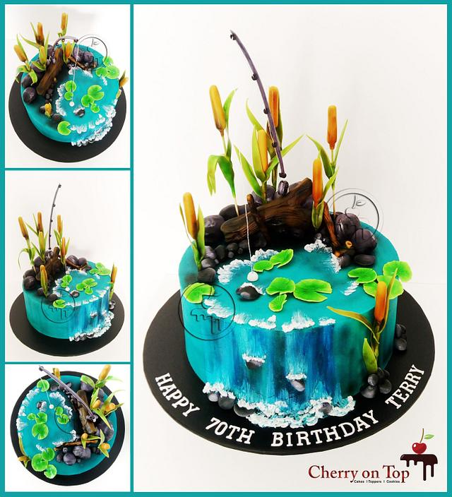 Outstanding Fishing Theme Cake Cake By Cherry On Top Cakes And Cakesdecor Personalised Birthday Cards Cominlily Jamesorg