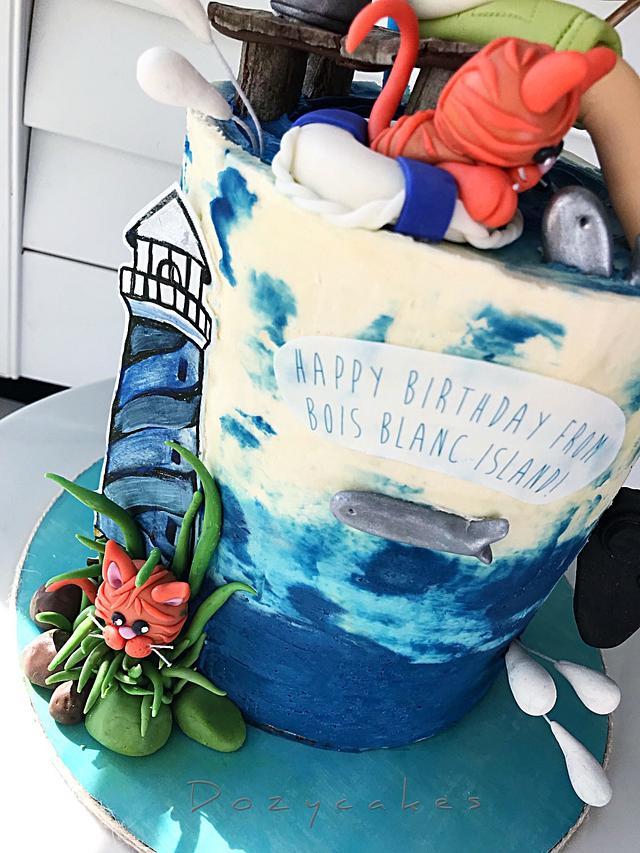 Bois Blanc Birthday Cake