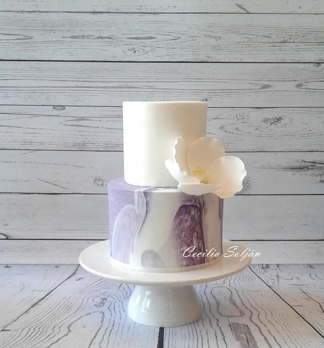 Torta de bodas Efecto mármol