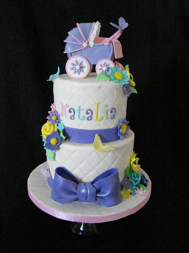 Baby Shower Cake w/Stroller
