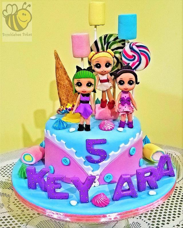 Fondant LOL doll cake