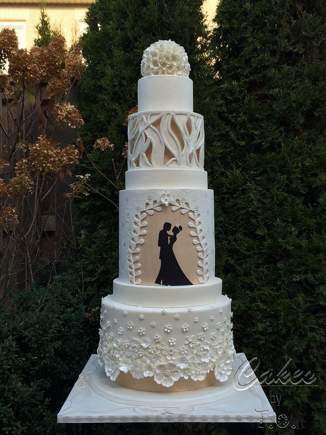 Modern Wedding Cake Cake By T O Cakes Cakesdecor