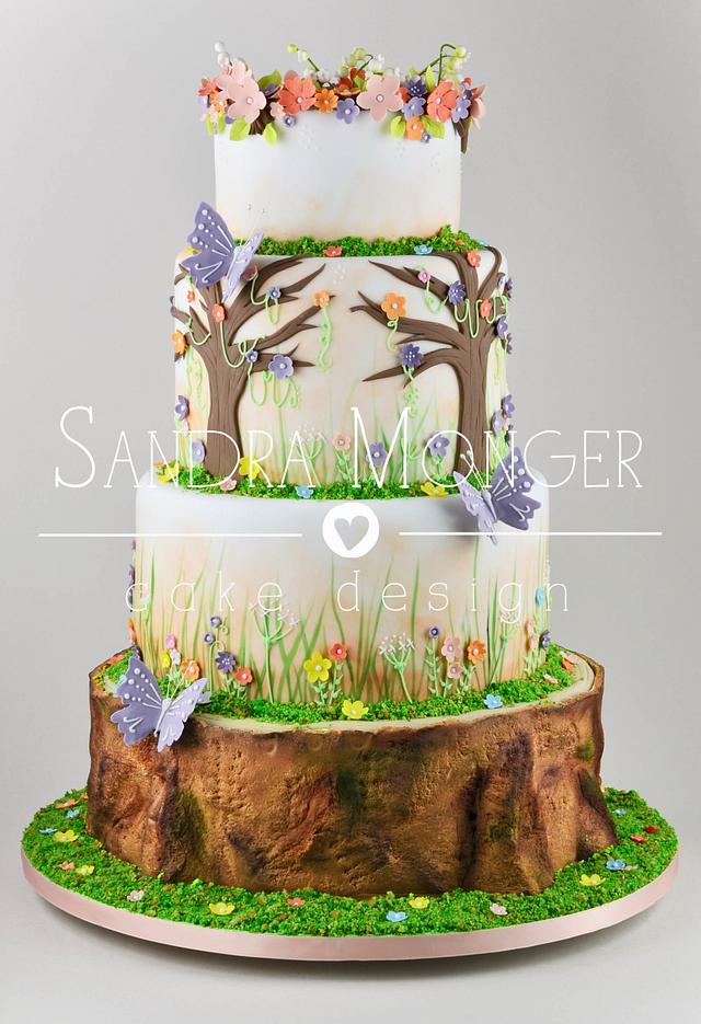 A Midsummer Night's Dream Wedding Cake